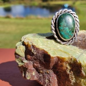 |Vintage| Sterling Silver Turquoise Ring